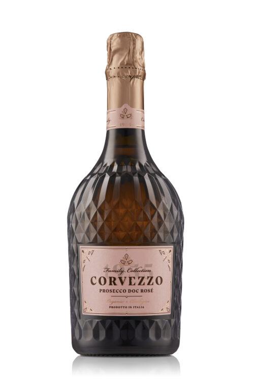 Rosé Prosecco Brut DOC Biologisch angebaut und Vegan verarbeitet von der Familie Corvezzo in 0.75 Lieter Kristallflasche aus Italien